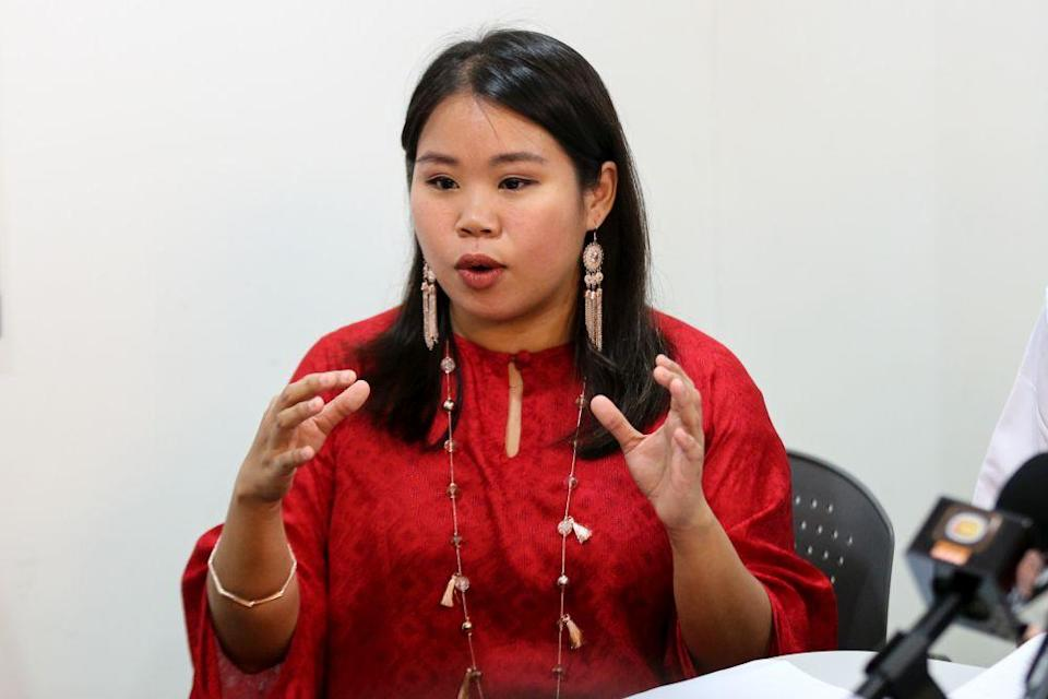 Heidy Quah speaks during a press conference in Petaling Jaya June 20, 2018. — Picture by Ahmad Zamzahuri