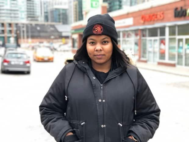 Shaniece Sylva, a Toronto courier who delivers groceries and alcohol, believes customers are likely to continue ordering online more frequently even after the pandemic. (Nick Boisvert/CBC - image credit)