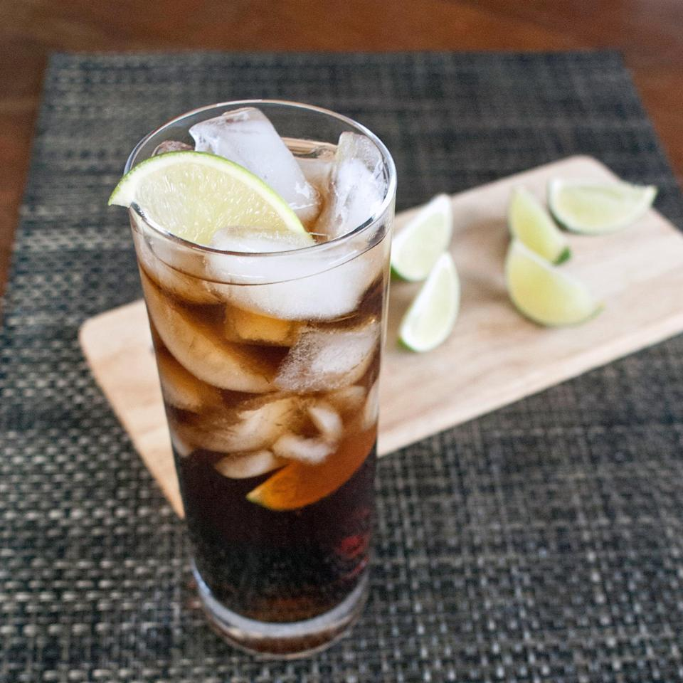 """<p>With only three ingredients, the Cuba libre is the easy-to-make cocktail you've been searching for. Cola, fresh lime juice, and rum come together to make this fresh Floridian libation in no time.</p> <p><strong>Get the recipe</strong>: <a href=""""https://www.popsugar.com/food/Cuba-Libre-Cocktail-39377208"""" class=""""link rapid-noclick-resp"""" rel=""""nofollow noopener"""" target=""""_blank"""" data-ylk=""""slk:Cuba libre"""">Cuba libre</a></p>"""