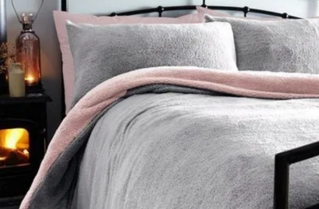 Tesco has reduced the price of a cosy 'teddy fleece' duvet (Photo: Tesco)
