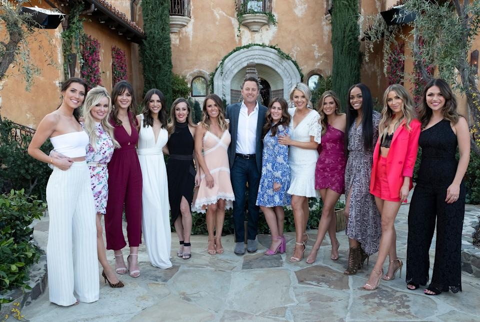 Some Bachelorettes throughout the franchise's history, who reunited at the Bachelor mansion in 2019 ahead of Bachelorette Hannah Brown's season. (Photo: John Fleenor via Getty Images)