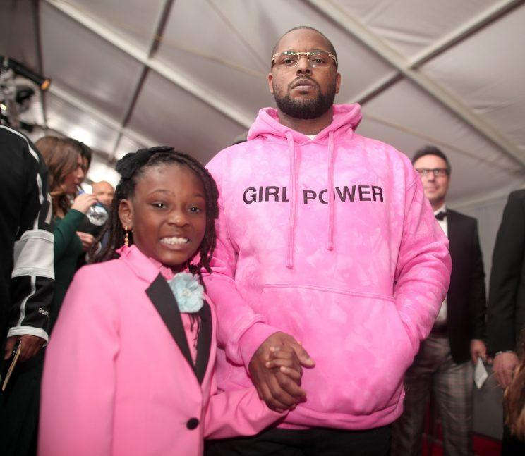 Rapper Schoolboy Q and his daughter, Joyce, at the 2017 Grammy Awards (Photo: Getty Images)