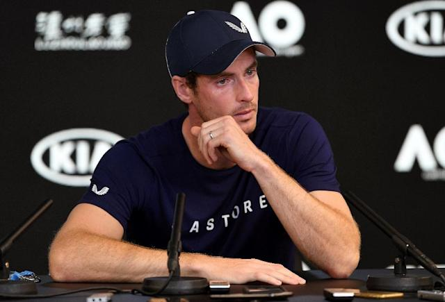 Former world number one and three-time Grand Slam winner Andy Murray breaks down in Melbourne as he says he will likely retire this year due to severe pain from a hip injury (AFP Photo/William WEST)
