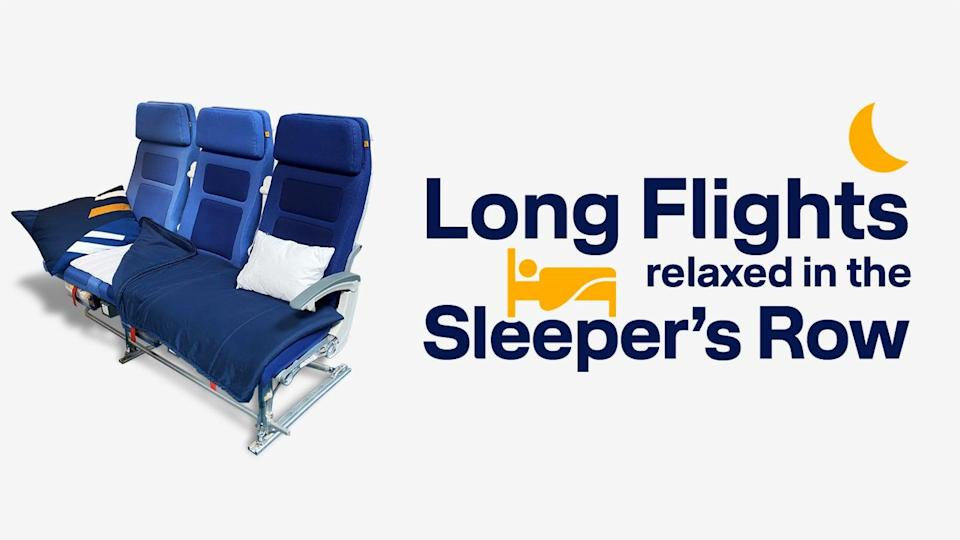 Lufthansa passengers can now book a whole row of seat on long-haul flights (Lufthansa)