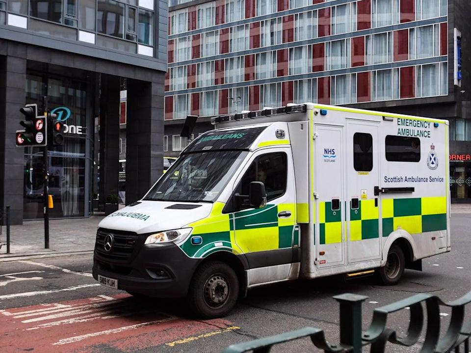 The Scottish government said that a combination of factors, mainly the pandemic, has put the ambulance service under severe pressures  (AFP via Getty Images)