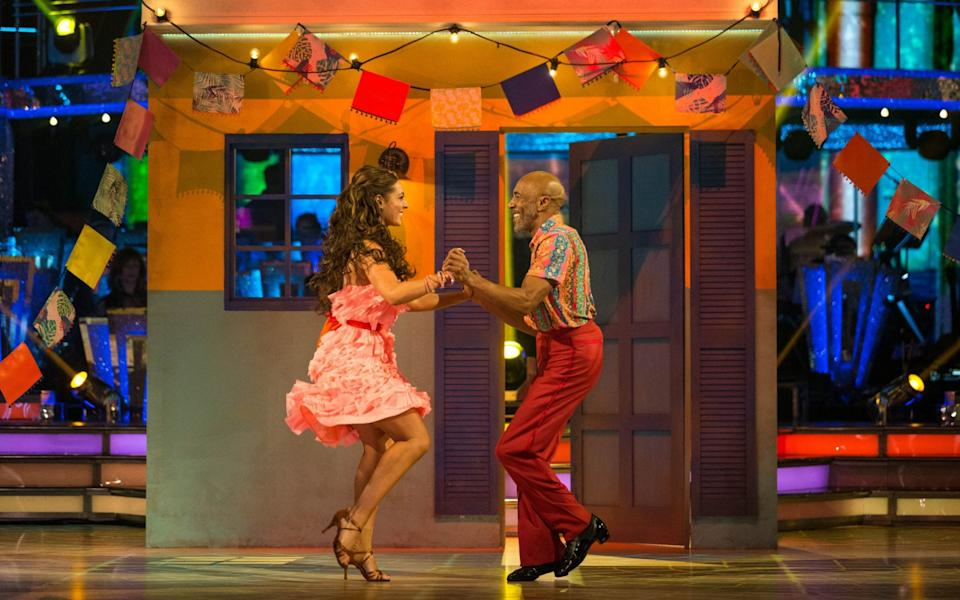Amy Dowden and Danny John-Jules on Strictly Come Dancing - PA