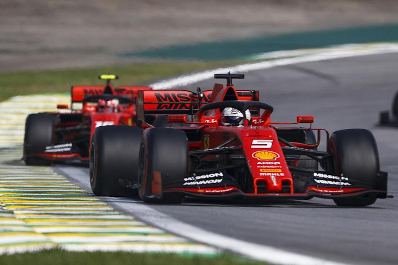 Ferrari drivers called to stewards over collision