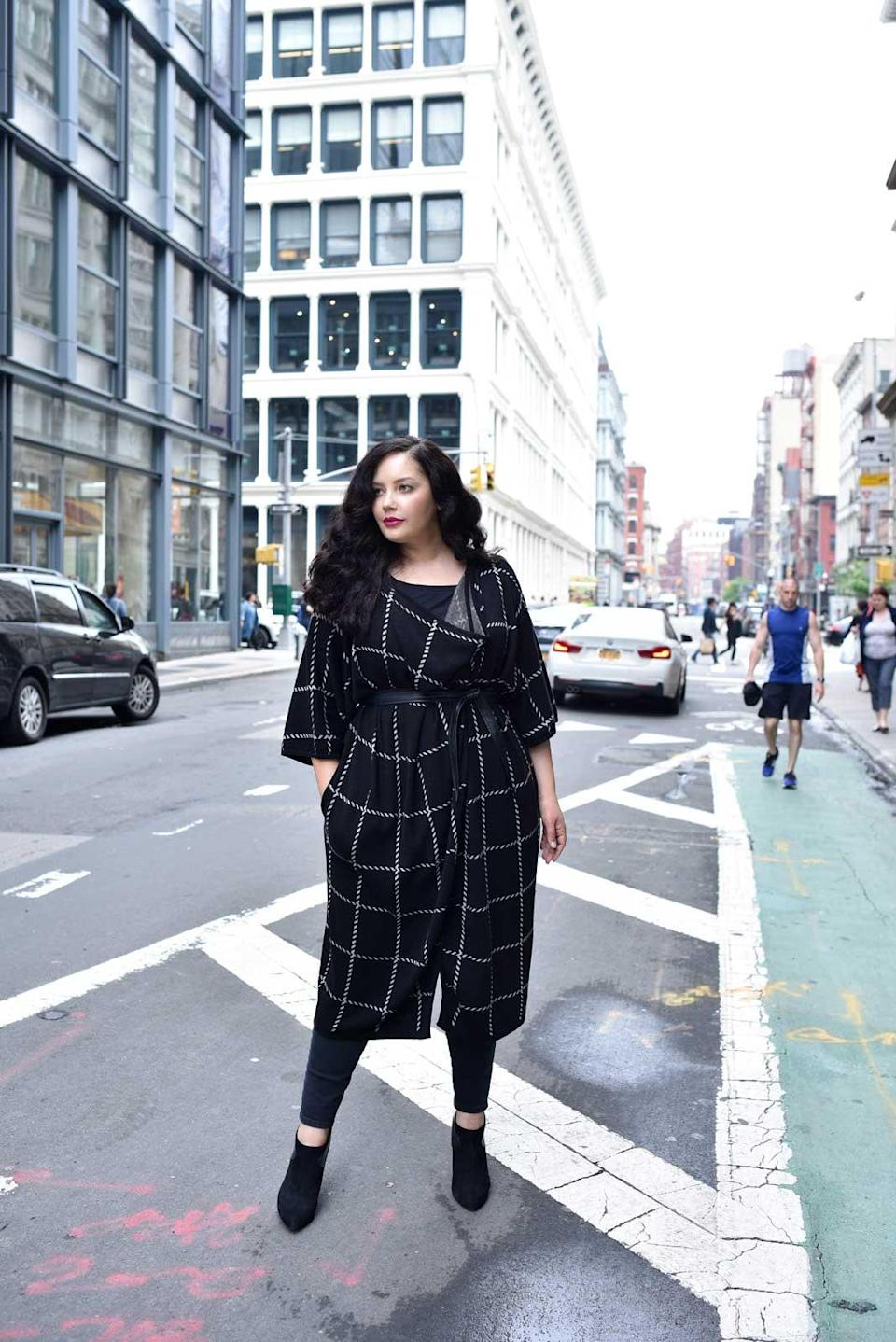 Tanesha Awasthi of Girl With Curves in clothing from her new collection with Lane Bryant. (Photo: Lane Bryant)