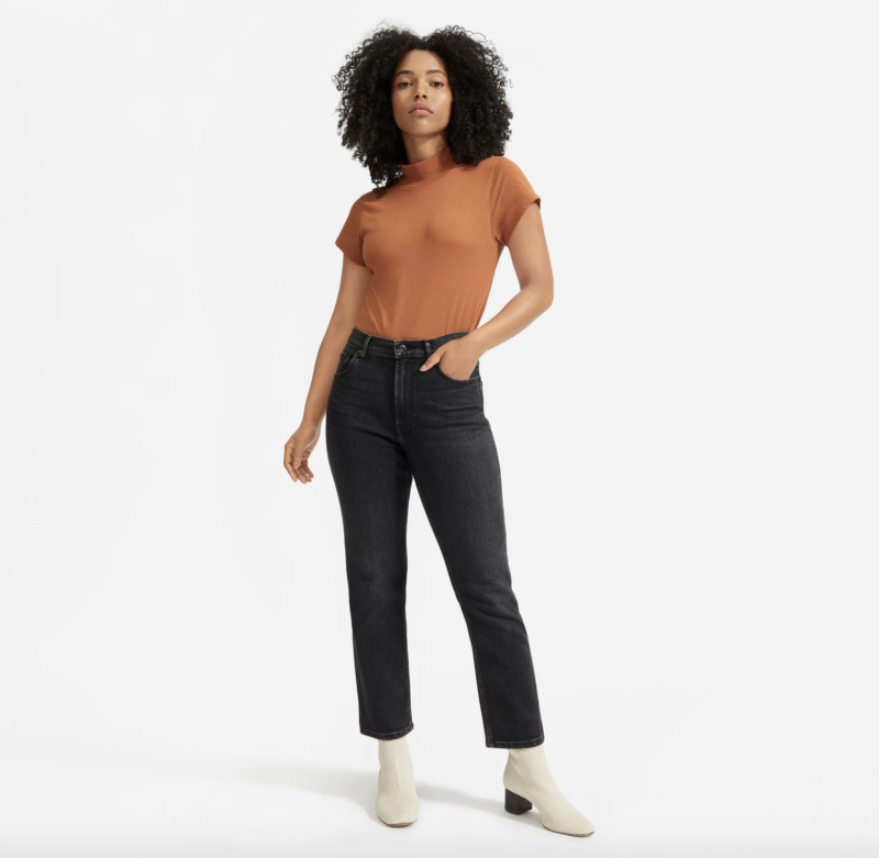 These jeans boast a waist-nipping rise. (Photo: Everlane)