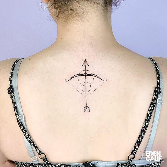 "<p>Your zodiac symbol—a bow and arrow—<strong>definitely gives off major outdoorsy and adventurous vibes.</strong> Opt for this placement for your Sagittarius <a href=""https://www.cosmopolitan.com/style-beauty/beauty/a33956683/tattoos-for-dark-skin/"" rel=""nofollow noopener"" target=""_blank"" data-ylk=""slk:tattoo"" class=""link rapid-noclick-resp"">tattoo</a> and show it off in a backless dress.</p><p><a href=""https://www.instagram.com/p/CFZLAsRs-op/"" rel=""nofollow noopener"" target=""_blank"" data-ylk=""slk:See the original post on Instagram"" class=""link rapid-noclick-resp"">See the original post on Instagram</a></p>"