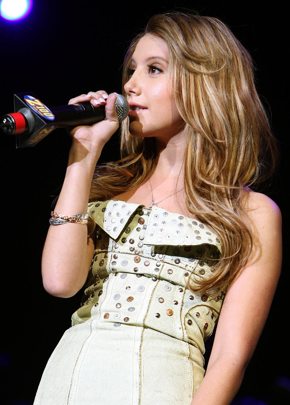 Ashley Tisdale depicted at Z100's Jingle Ball 2007 on December 14, 2007. (Photo: Theo Wargo/WireImage)