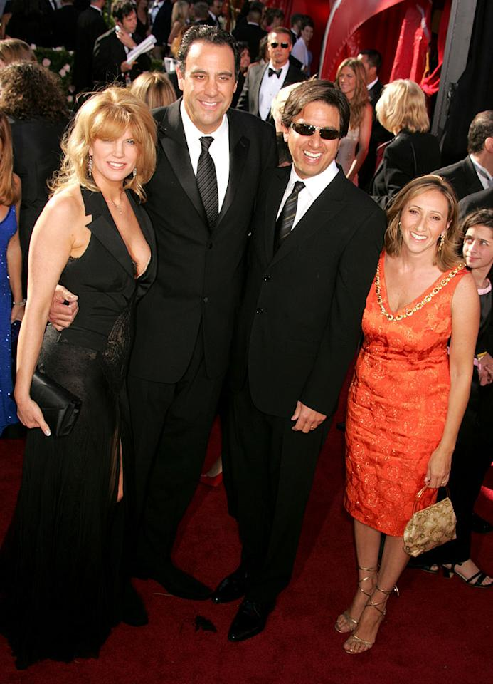 Brad Garrett and Ray Romano at the 56th Annual Primetime Emmy Awards in Los Angeles, California on September 19, 2004.