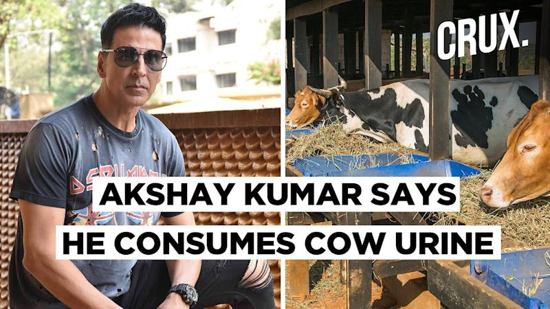 """Akshay Kumar Drinks Cow Urine For """"Ayurvedic Reasons"""", Netizens Search To See If There Are Any"""