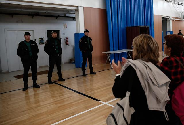 Police seized ballots and closed polling stations during the vote.