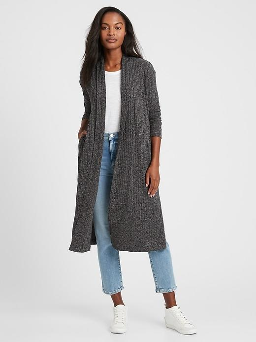 Banana Republic Ribbed Lightweight Duster Cardigan
