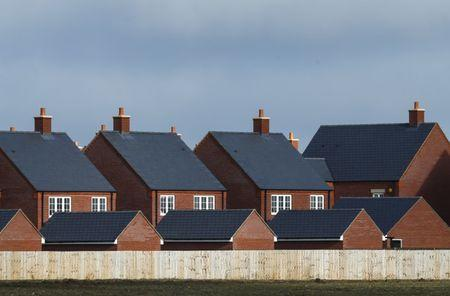 New residential homes are seen at a housing estate in Aylesbury