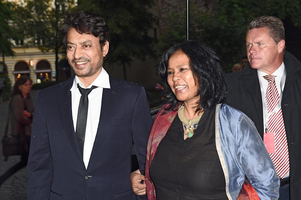 <p>File image: Irrfan Khan and wife Sutapa Sikdar at the 'Qissa' Premiere as part of Filmfest Muenchen 2014 </p> (Getty Images)