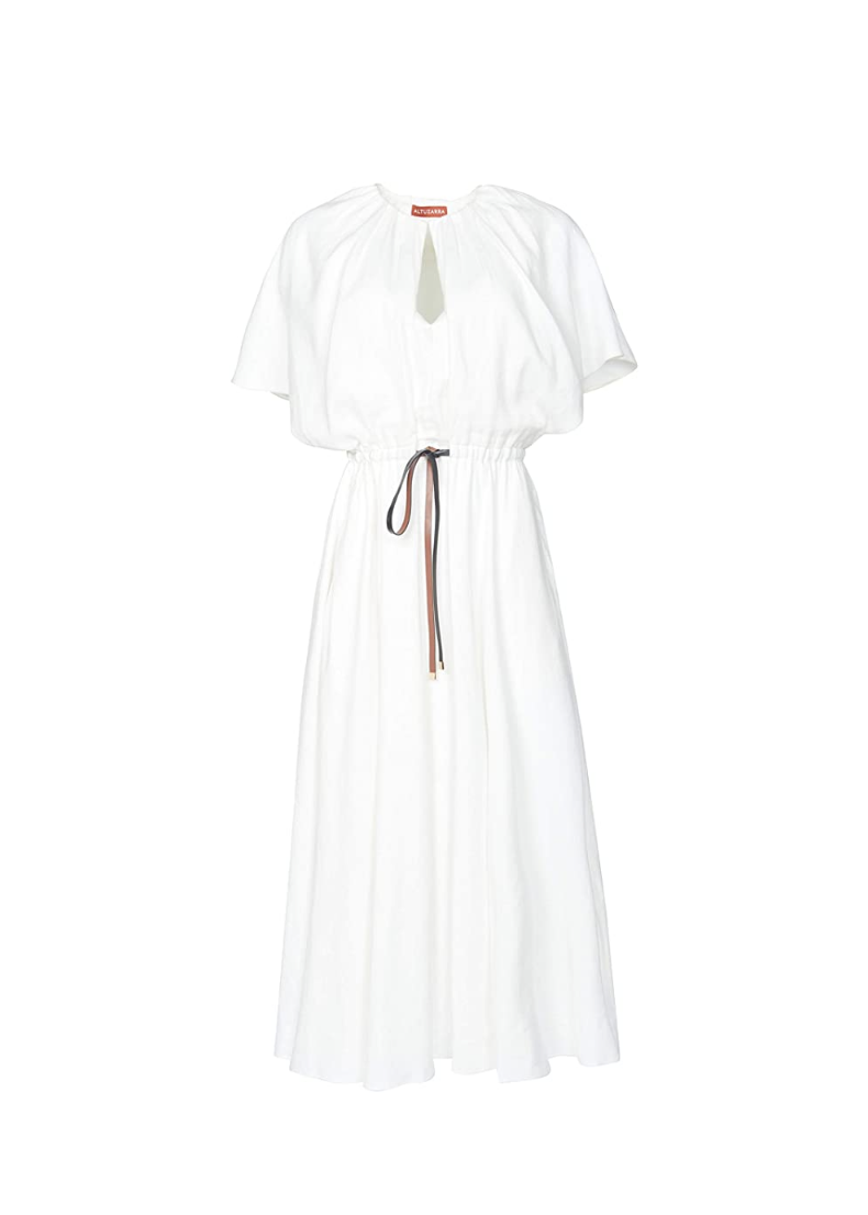 "<p><em>Altuzarra Romy Dress, $1,495</em></p><p><a class=""link rapid-noclick-resp"" href=""https://www.amazon.com/dp/B08VF9X4NH/ref=cm_sw_r_oth_api_glt_fabc_1VBSWB81GSX99B7FEPM8?tag=syn-yahoo-20&ascsubtag=%5Bartid%7C10063.g.36061638%5Bsrc%7Cyahoo-us"" rel=""nofollow noopener"" target=""_blank"" data-ylk=""slk:SHOP NOW"">SHOP NOW</a></p><p>When the weekend rolls around and laptop screens are shut, all we want to do is pull on an easy, breezy dress.</p>"