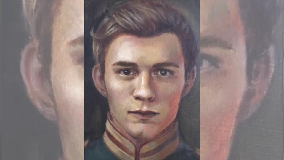 A painting of Tom Holland