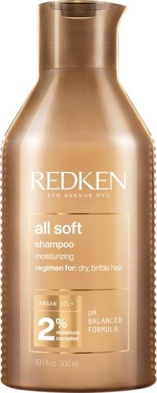 <p>The golden formula of <span>Redken All Soft Shampoo</span> ($20) focuses on treating hair from the root, and boasts up to 15 times the conditioning benefits of other shampoos, just as its name would suggest, leaving strands super soft. Loyalists on Ulta's website say they also use it for color-treated hair.</p>