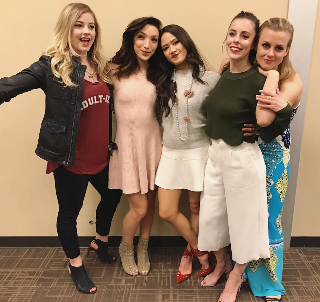 <p></p><p><span>Madison has a great relationship with the other American women of skating, with whom she toured as part of 'Stars on Ice.' She's pictured here bonding with fellow Olympians (left to right): Gracie Gold (Sochi), Meryl Davis (Vancouver & Sochi), Ashley Wagner (Sochi & PyeongChang) and Madison Hubbell (PyeongChang).</span><br />(Instagram/@chockolate02) </p><p></p>
