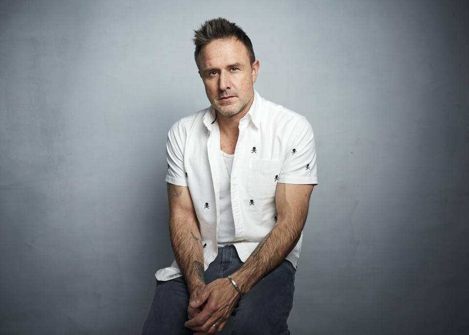 """David Arquette poses for a portrait to promote the film """"Spree"""" at the Music Lodge during the Sundance Film Festival on Friday, Jan. 24, 2020, in Park City, Utah. (Photo by Taylor Jewell/Invision/AP)"""