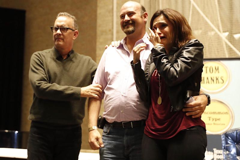 Tom Hanks Helps With Surprise Proposal at Texas Book Fair