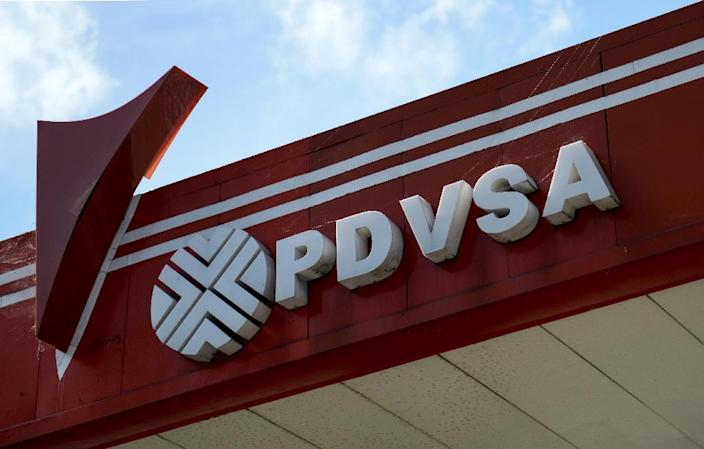 The United States has imposed sanctions on Venezuela's state oil company PDVSA, aimed at preventing Maduro from diverting resources until control can be transferred to an interim government (AFP Photo/Federico PARRA)