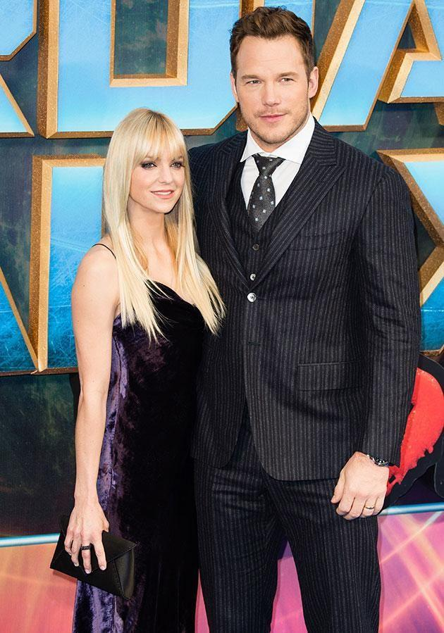 """Anna with her second husband, Chris Pratt, who she says she """"desperately wanted to f**k"""" while she was still married to fellow actor Ben Indra. Source: Getty"""