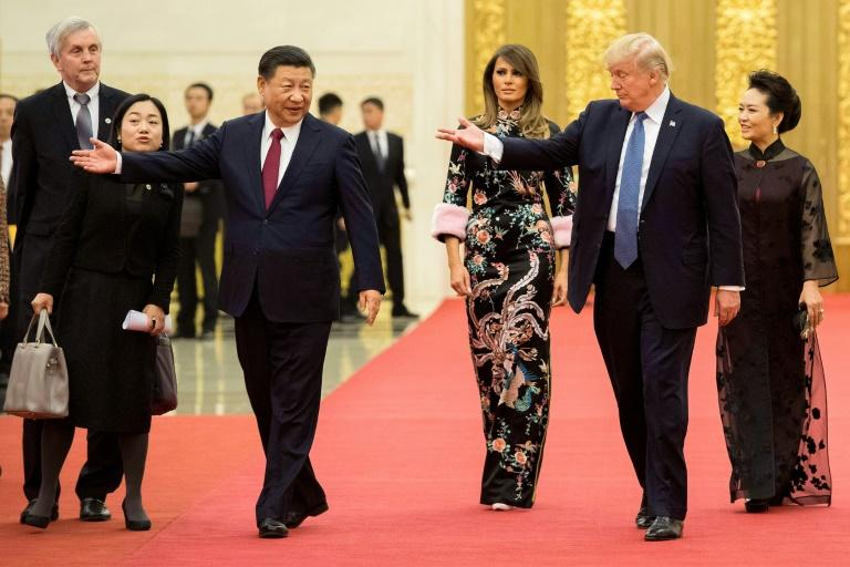 The incident occurred during President Donald Trump's visit to Beijing in November 2017