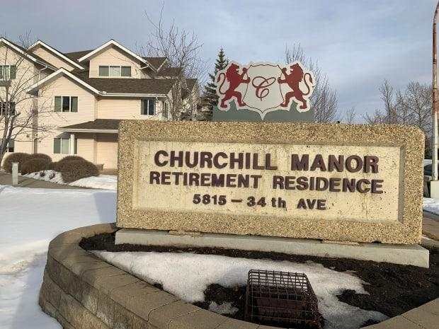 An outbreak of COVID-19 at Churchill Manor, a private care facility in Edmonton, is linked to a highly contagious variant of the coronavirus. (Trevor Wilson/CBC - image credit)
