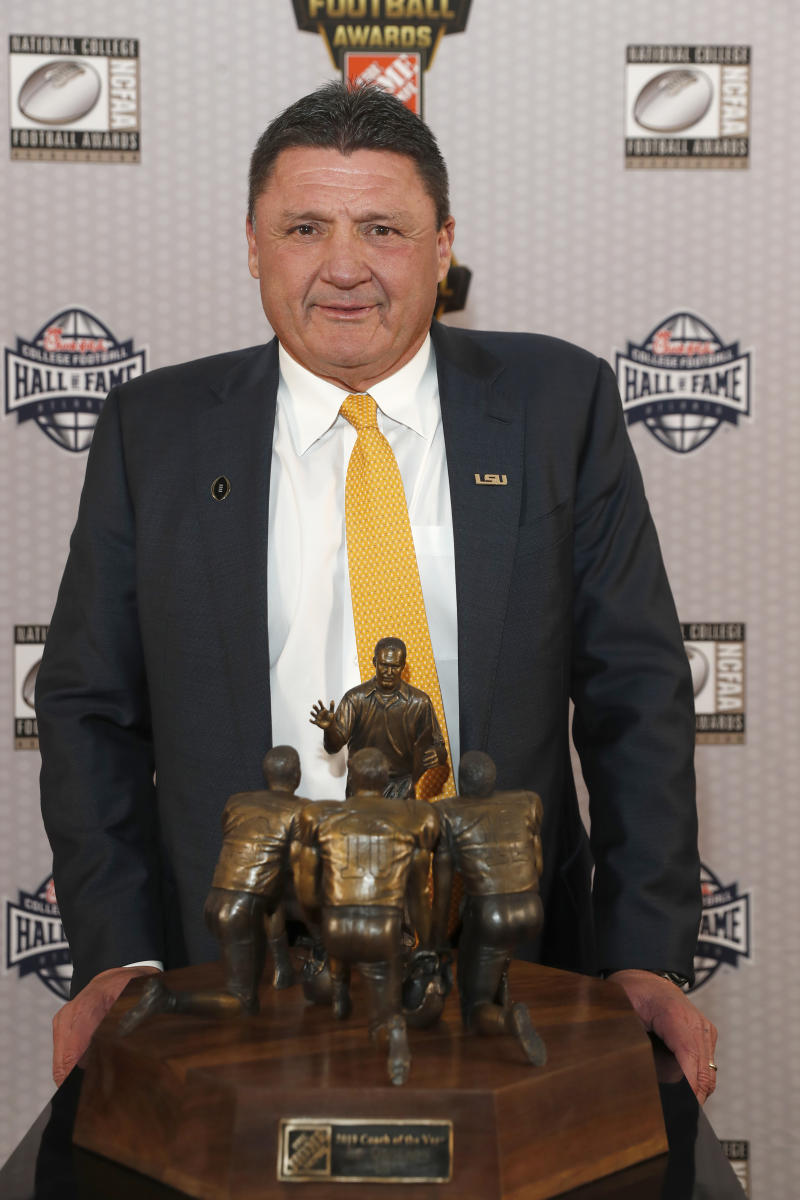 Lsu S Ed Orgeron Is Ap College Football Coach Of The Year