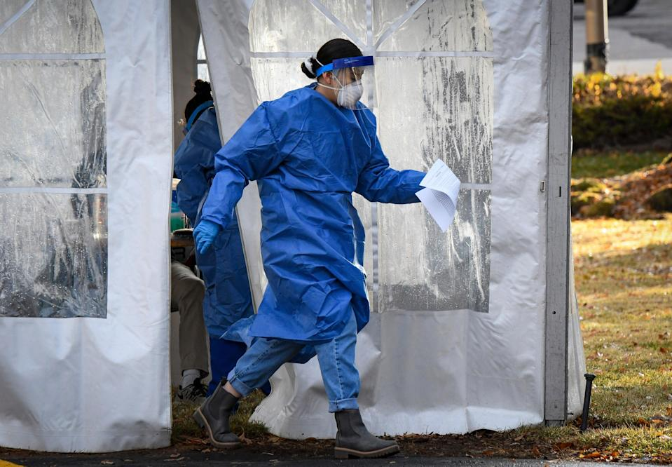 Nurses union warns of 'catastrophic death' coming amid a surge in coronavirus cases and hospitalisations (AP)