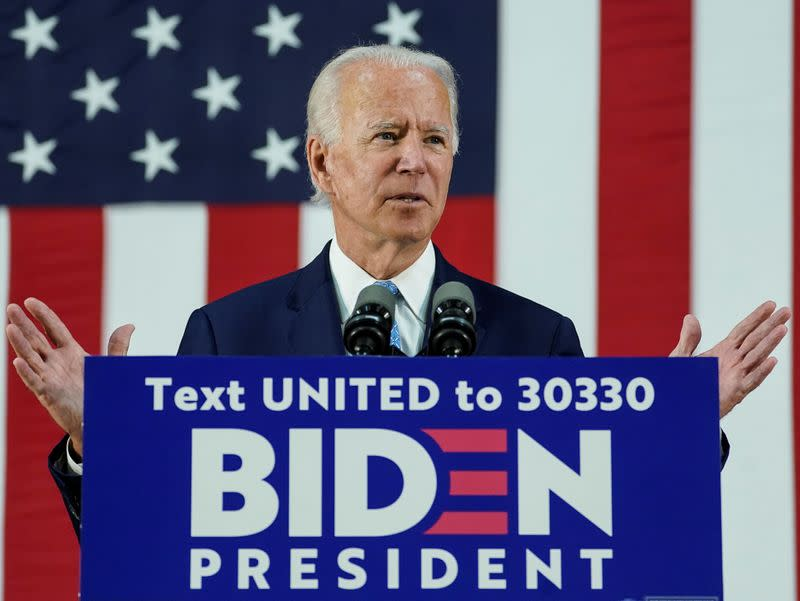 Biden previews manufacturing plan to counter 'America First' president