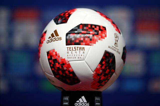 Adidas supplies the official ball for the FIFA World Cup. (Reuters)