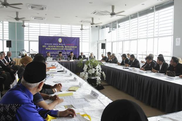 A roundtable talk on the Rukunegara was organised by Perkasa in Kuala Lumpur March 5, 2017. — Picture by Yusof Mat Isa