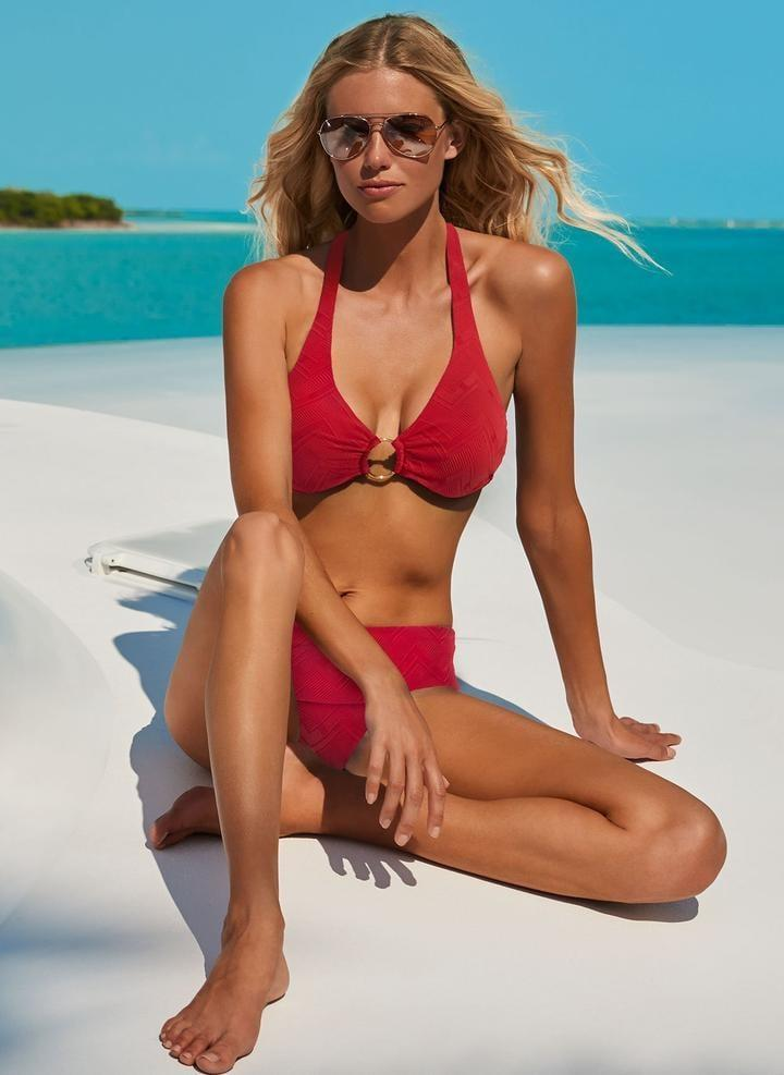<p>This <span>Melissa Odabash Brussels Red Zigzag Bikini</span> ($234) is a classic red bikini, and it's so flattering for a larger chest.</p>