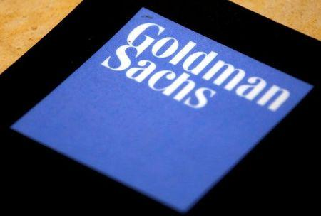 FILE PHOTO: The logo of Goldman Sachs is displayed in their office located in Sydney, Australia