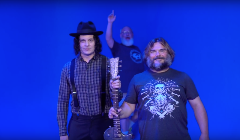 You can finally listen to Jack Black and Jack White's 'Jack Gray' song, 'Don't Blow It, Kage'