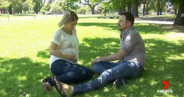 The couple lost their newborn soon after a premature birth. Source: 7 News