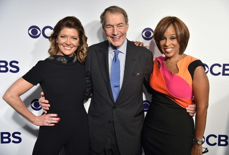 "US television host Charlie Rose - here with ""CBS This Morning"" co-hosts Norah O'Donnell (L) and Gayle King (R) - was fired following reports of inappropriate sexual conduct with eight women"