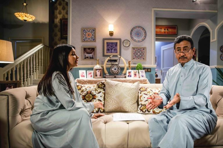 Saudi-made Ramadan television series 'Exit-7' has ignited controversy for promoting what critics call normalisation of Arab ties with Israel (AFP Photo/-)