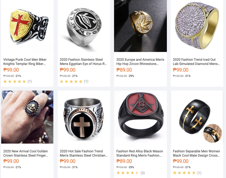 iuah09: Rings for every day of the week. PHOTO: Lazada