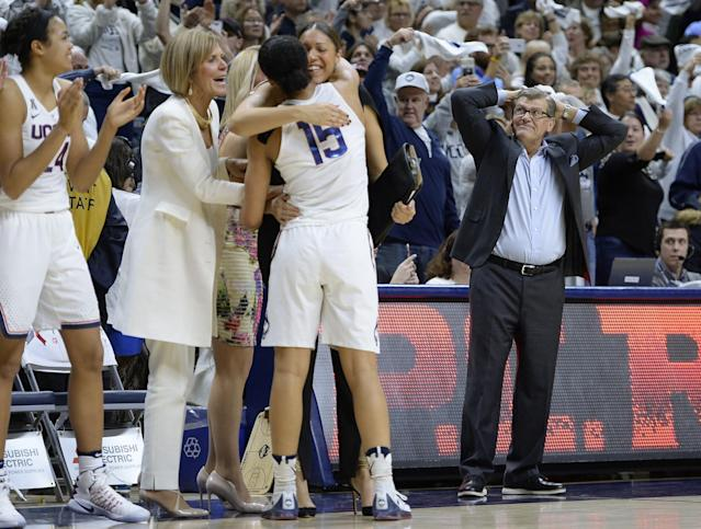 <p>This could be considered the most impressive win streak in all of sports. It's certainly the longest streak in basketball history, college or pro, male or female. It spanned from November of 2014 to March of 2017, included two national titles, and it broke UConn's previous NCAA Division I record streak of 90 games that was already seen as nearly unbeatable. </p>