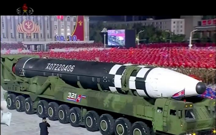 A military parade last October unveiled a new intercontinental ballistic missile - AP/KRT