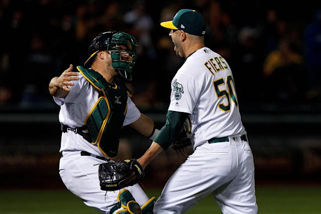 The career of Mike Fiers is now defined by two nights, nearly four years apart. (Getty Images)