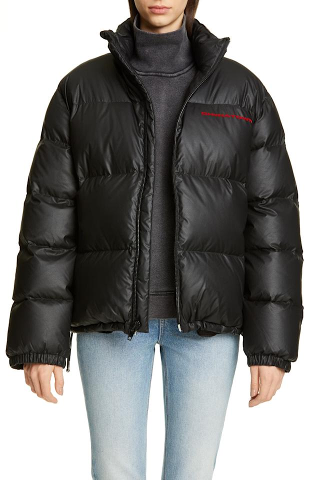 "<p>You can't go wrong with this <a href=""https://www.popsugar.com/buy/Alexander-Wang-Chynatown-Faux-Leather-Down-Puffer-Coat-496633?p_name=Alexander%20Wang%20Chynatown%20Faux-Leather%20Down%20Puffer%20Coat&retailer=shop.nordstrom.com&pid=496633&price=895&evar1=fab%3Aus&evar9=45631613&evar98=https%3A%2F%2Fwww.popsugar.com%2Ffashion%2Fphoto-gallery%2F45631613%2Fimage%2F46701490%2FAlexander-Wang-Chynatown-Faux-Leather-Down-Puffer-Coat&list1=shopping%2Ccoats%2Cwinter%2Cwinter%20fashion%2Cpuffer%20jackets&prop13=mobile&pdata=1"" rel=""nofollow"" data-shoppable-link=""1"" target=""_blank"" class=""ga-track"" data-ga-category=""Related"" data-ga-label=""https://shop.nordstrom.com/s/alexander-wang-chynatown-faux-leather-down-puffer-coat/5294980?origin=keywordsearch-personalizedsort&amp;breadcrumb=Home%2FAll%20Results%2FWomen%27s%20Clothing&amp;color=black"" data-ga-action=""In-Line Links"">Alexander Wang Chynatown Faux-Leather Down Puffer Coat</a> ($895).</p>"