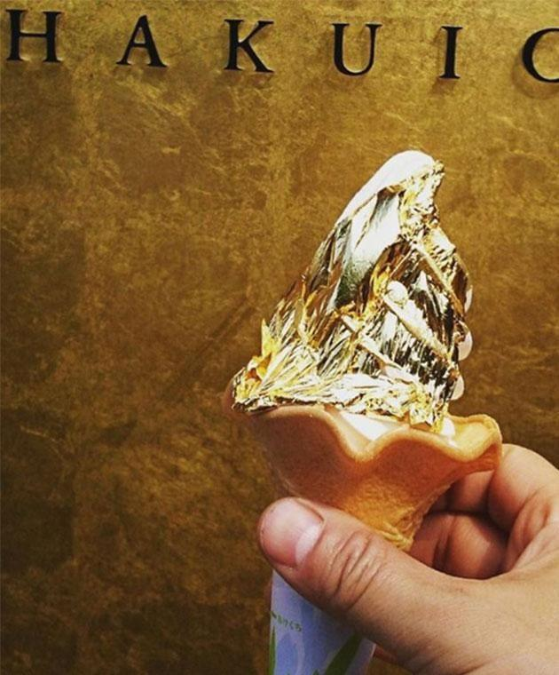 Edible gold leaf is said to promote long lasting beauty and youth. Photo: Instagram