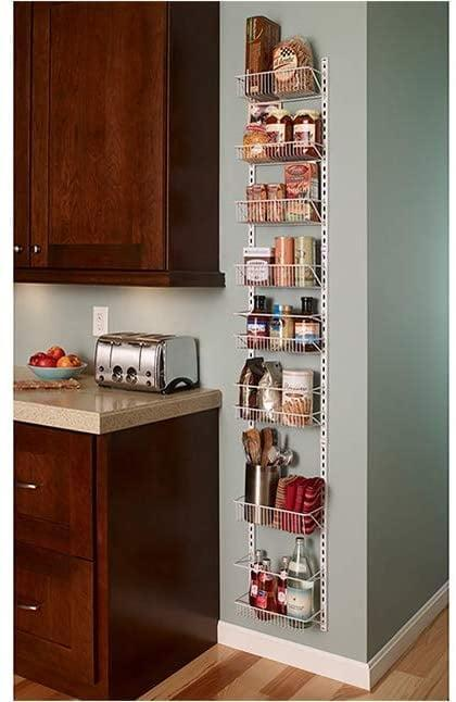 <p>If you want the most storage that takes up the least amount of space, you need this <span>ClosetMaid 1231 Adjustable 8-Tier Wall and Door Rack</span> ($48, originally $63). You can easily reposition baskets to accommodate tall and short items.</p>
