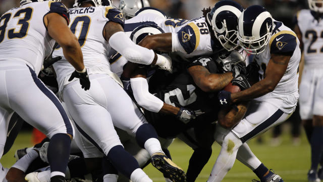 <p>The Raiders needed fewer than five minutes to get on the scoreboard for the first time with Jon Gruden back in charge.</p>